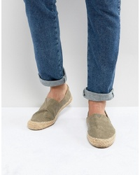 Brown Canvas Espadrilles