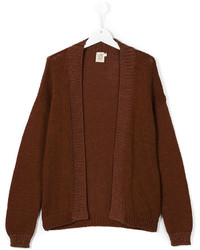 Caffe Dorzo Open Front Knitted Cardigan
