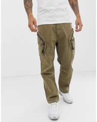 G Star Rovic 3d Airforce Zip Cargo Trousers In Sand