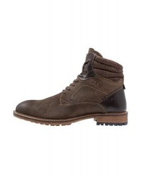s.Oliver Lace Up Boots Brown