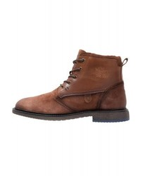 s.Oliver Lace Up Boots Tan