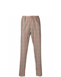 Brown Check Chinos