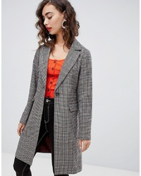New Look Check Tailored Coat Pattern