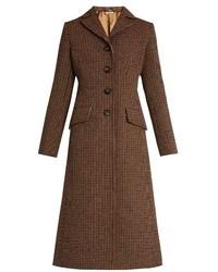 Miu Miu Single Breasted Tweed Coat