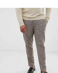 ASOS DESIGN Plus Skinny Smart Trouser In Red And Camel Check