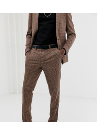 Heart & Dagger Skinny Fit Suit Trouser In Tattersall Check