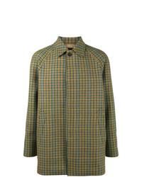Prada Checked Mac Coat