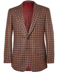 Brown Check Wool Blazer