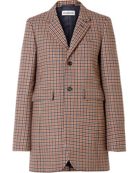 Balenciaga Checked Wool Blend Blazer