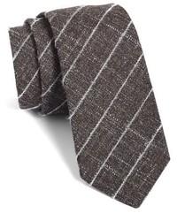BOSS Check Wool Blend Skinny Tie