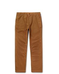Norse Projects Josef Striped Herringbone Cotton Trousers