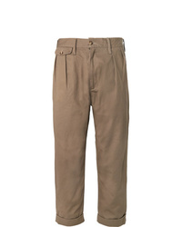 The Workers Club Tapered Pleated Cotton Twill Chinos