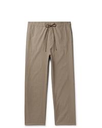 Auralee Wide Leg Cotton Twill Trousers