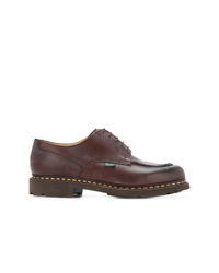 Brown Chunky Leather Derby Shoes