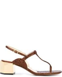 Chunky heel t bar sandals medium 519026