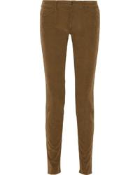 Brown Corduroy Skinny Pants