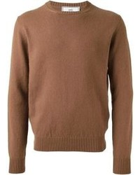 Brown Crew-neck Sweater