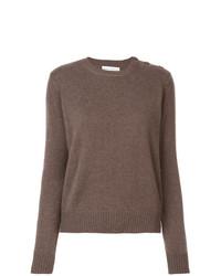 daaf4652a2bbc1 Alexandra Golovanoff Buttoned Shoulder Knitted Jumper