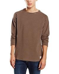 Yd Stripe Pique Crewneck509 Long Sleeve Sweatshirt Beige