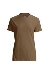 Brown Crew-neck T-shirt