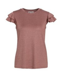 mint&berry Print T Shirt Light Mahogany