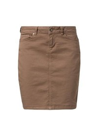 Brown Denim Mini Skirt