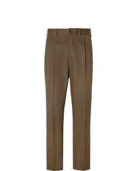 Berg & Berg Anton Pleated Cotton Blend Trousers