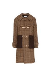 Rejina Pyo Check Print Hooded Wool Duffle Coat