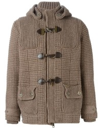 Bark Knitted Duffle Coat