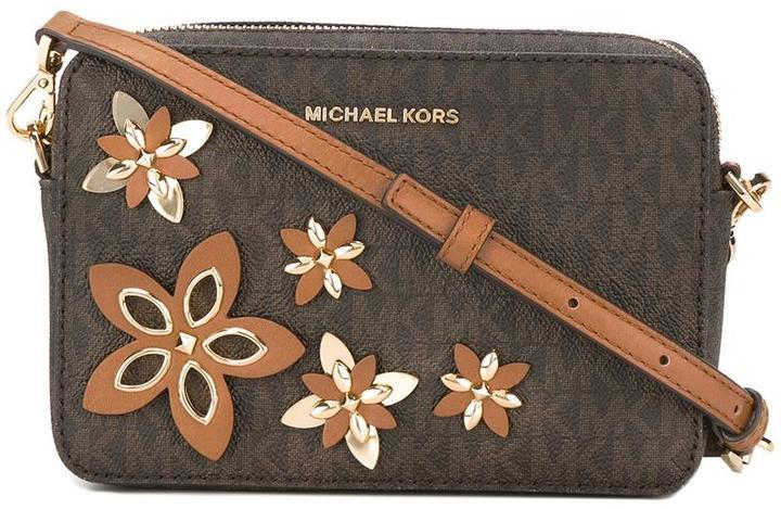 Michael michael kors michl michl kors flora applique shoulder bag