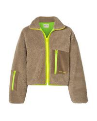 Sandy Liang Corduroy And Med Fleece Jacket