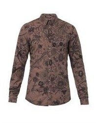 Floral print slim fit shirt medium 91383