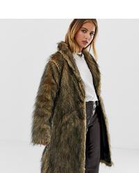 Reclaimed Vintage Inspired Fluffy Faux Fur Coat