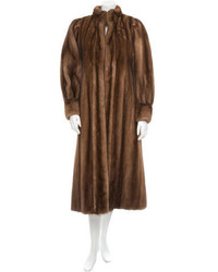 Saint Laurent Yves Mink Coat