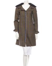 Brown Fur Collar Coat