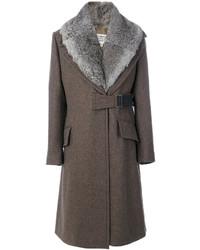 Maison Margiela Fur Trimmed Coat