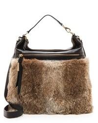 Brown Fur Crossbody Bag