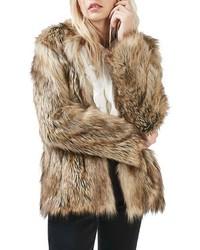 new york 659e9 73604 Women's Fur Coats by Topshop | Women's Fashion | Lookastic UK