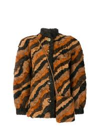 Christian Dior Vintage Patchwork Shearling Coat