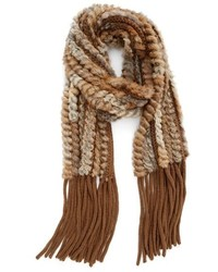 Genuine rabbit fur scarf medium 793464