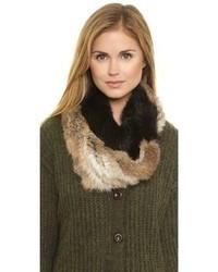 Knit fur loop scarf medium 101462