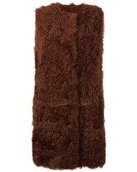 Long fuzzy gilet medium 3832226
