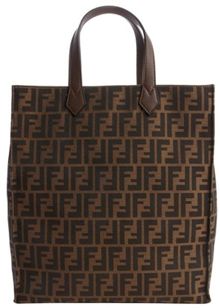 Fendi Brown And Black Canvas Zucca Pattern Large Tote Bag   Where to ... 7e4469952a