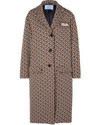 Prada Jacquard Knit Coat