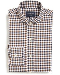 Ledbury grove classic fit gingham dress shirt medium 442938