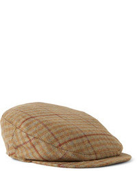 Musto Shooting Checked Wool Blend Tweed Flat Cap
