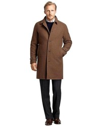 Brown Gingham Overcoat