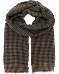 Brown Gingham Scarf