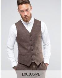 Heart dagger skinny vest in tonal check medium 1314703