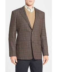 Classic fit plaid sport coat medium 130470